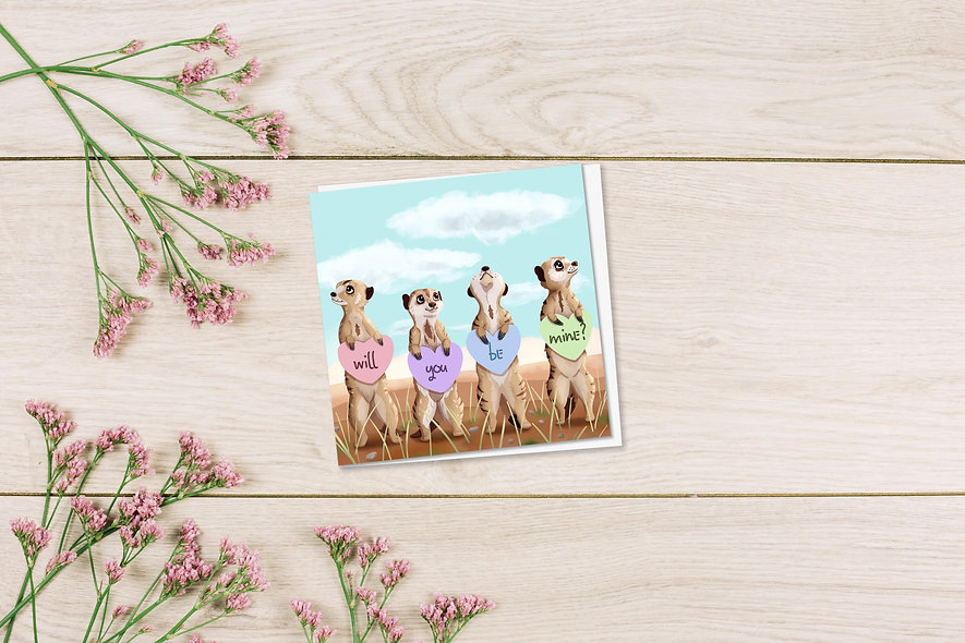 Meerkat Be Mine Card