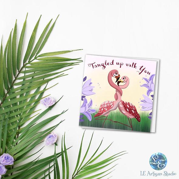 Flamingo Love Card