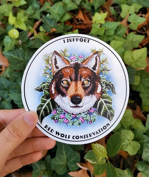 Red Wolf Conservation Sticker