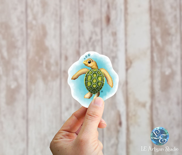 Flatback Sea Turtle Sticker