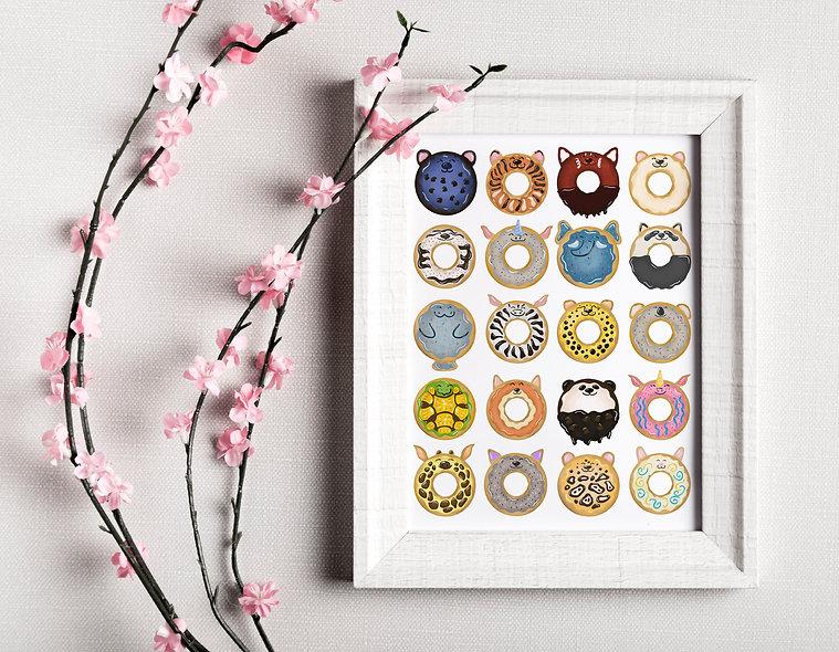 Donut Animal Painting