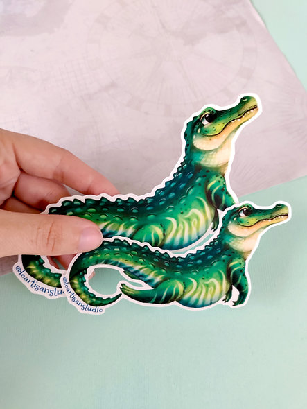 Swimming Gator Sticker