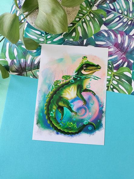Alligator Friend Print