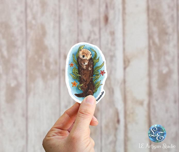 Sea Otter Sticker