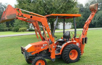 kabuta B21 with back hoe attachment and