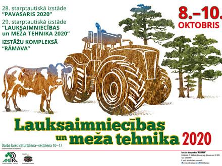 """Aicinām uz izstādi """"Lauksaimniecības un meža tehnika 2020"""""""