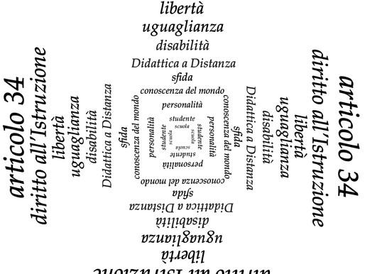 Un progetto grafico per la rilettura dell'articolo 34 della Costituzione Italiana