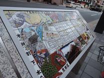江戸の雰囲気が感じられる街の掲示板