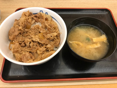 About beef bowl beyond that corner その角の先にある牛丼について
