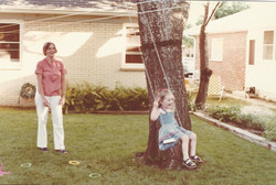 swinging with mom
