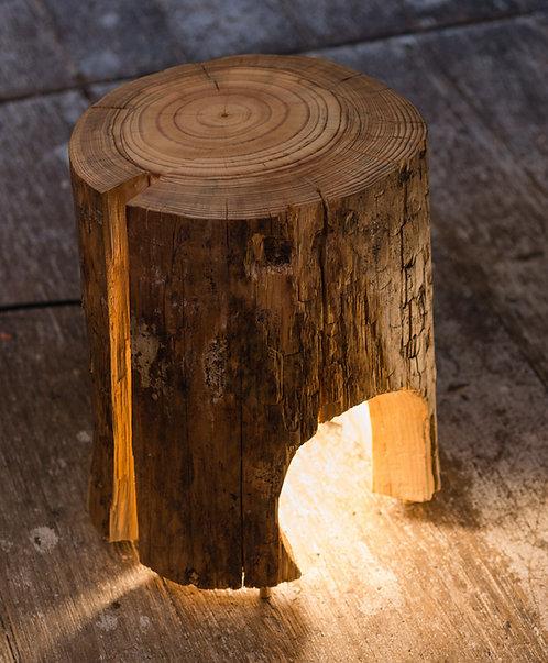 Cracked Log Reading Lamp
