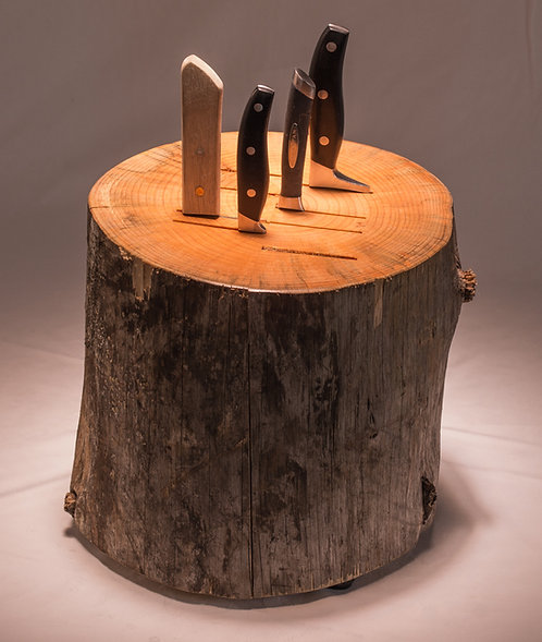 Log Knife Block
