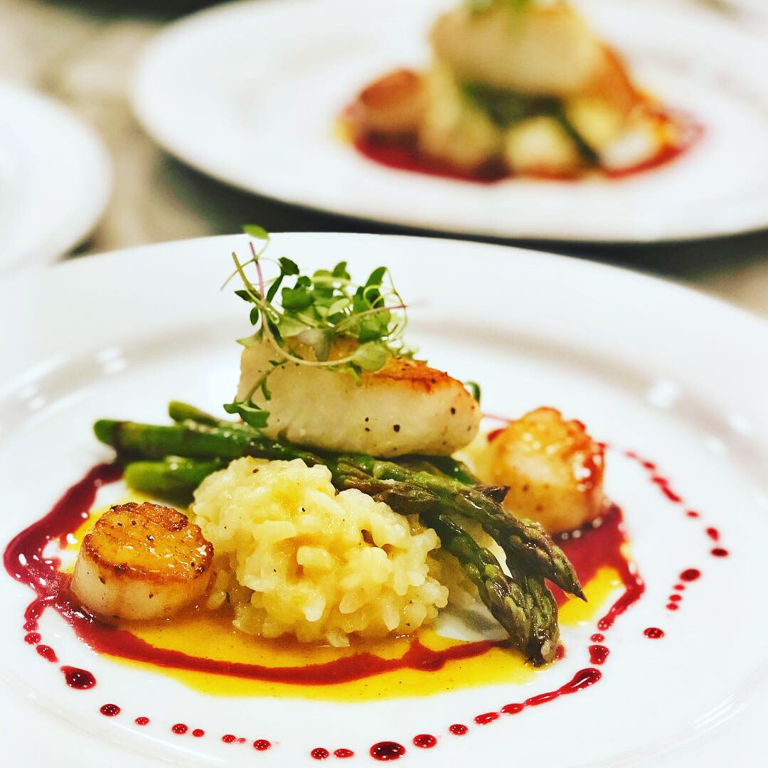 Seabass with Scallops