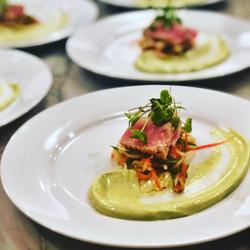 Ahi Tuna with Avocado-Lime Smear