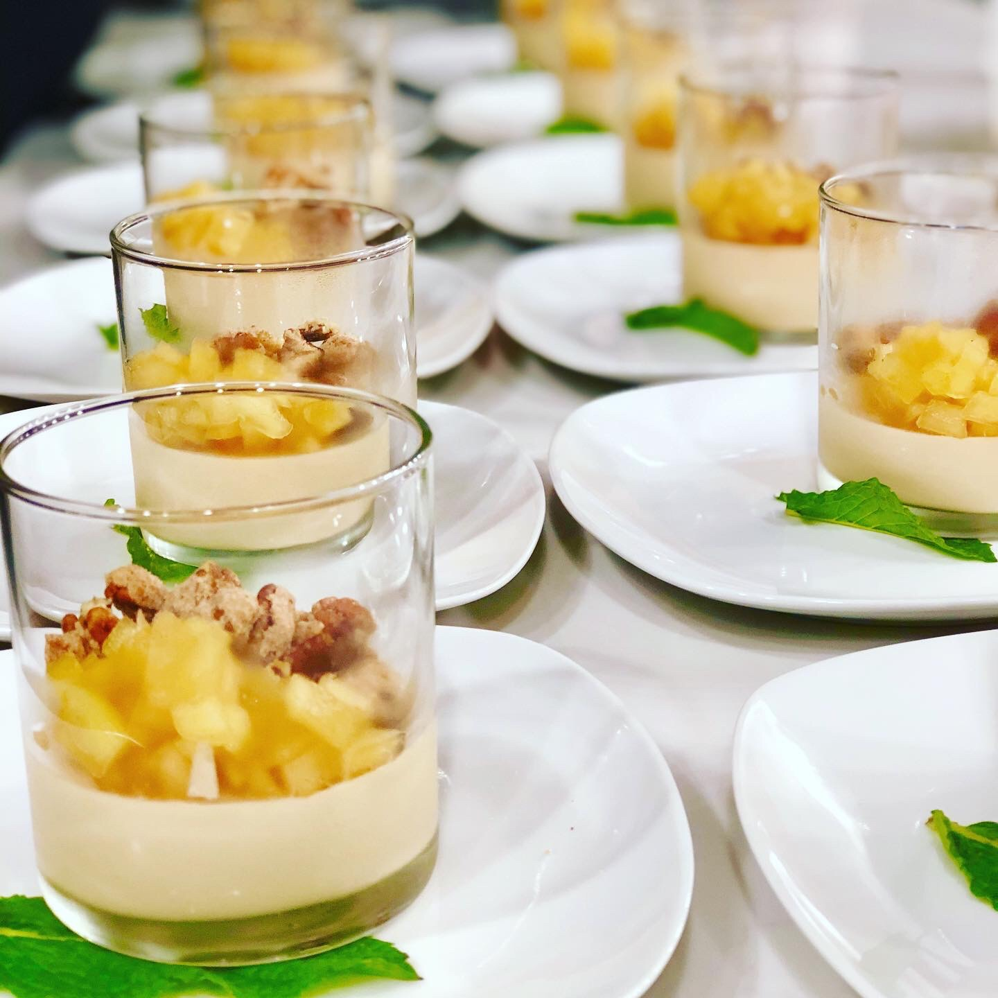 Earl Grey Panna Cotta with Apples
