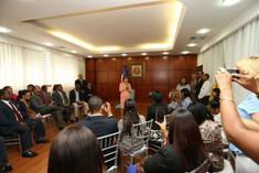Presidenta de la Cámara de Diputados sostiene encuentro con periodistas que cubren la fuente del Con