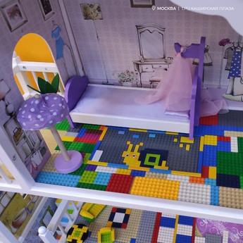 В ТРЦ Каширская Плаза построили дом из конструктора Lego