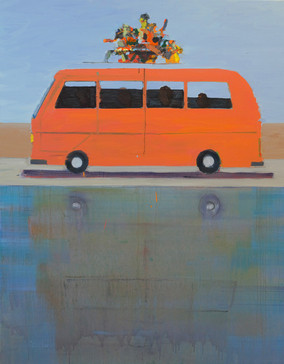 Travel , 2019, oil on canvas, 160x120 cm