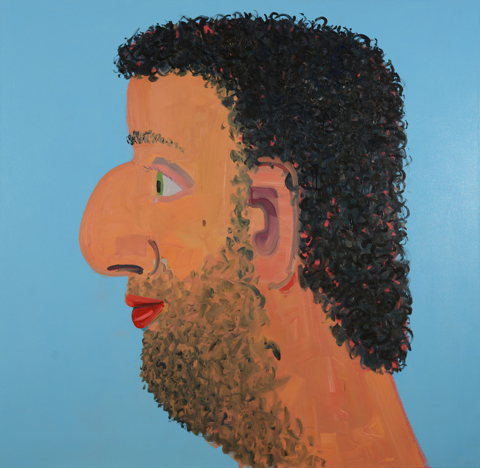 Hamudi, 2017, oil on canvas, 180x180 cm,