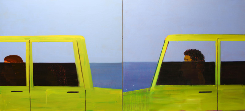 Sea road, 2019, oil on canvas, 230x120 c
