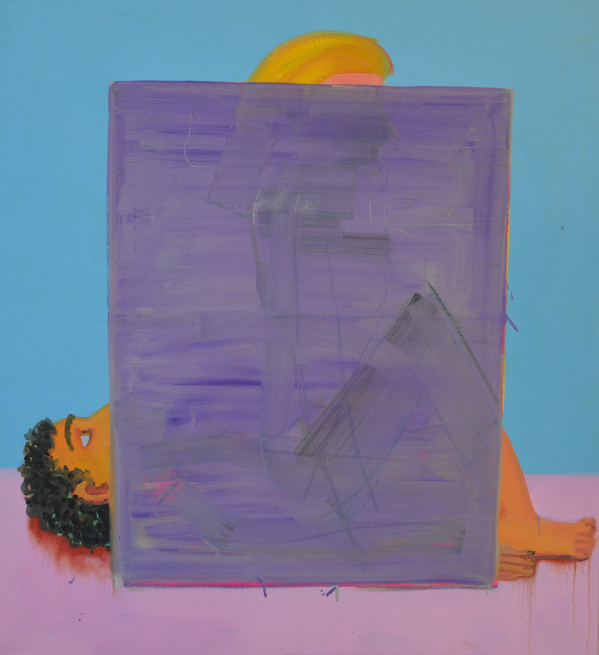 Screen, 2019, oil on canvas, 120x110 cm,