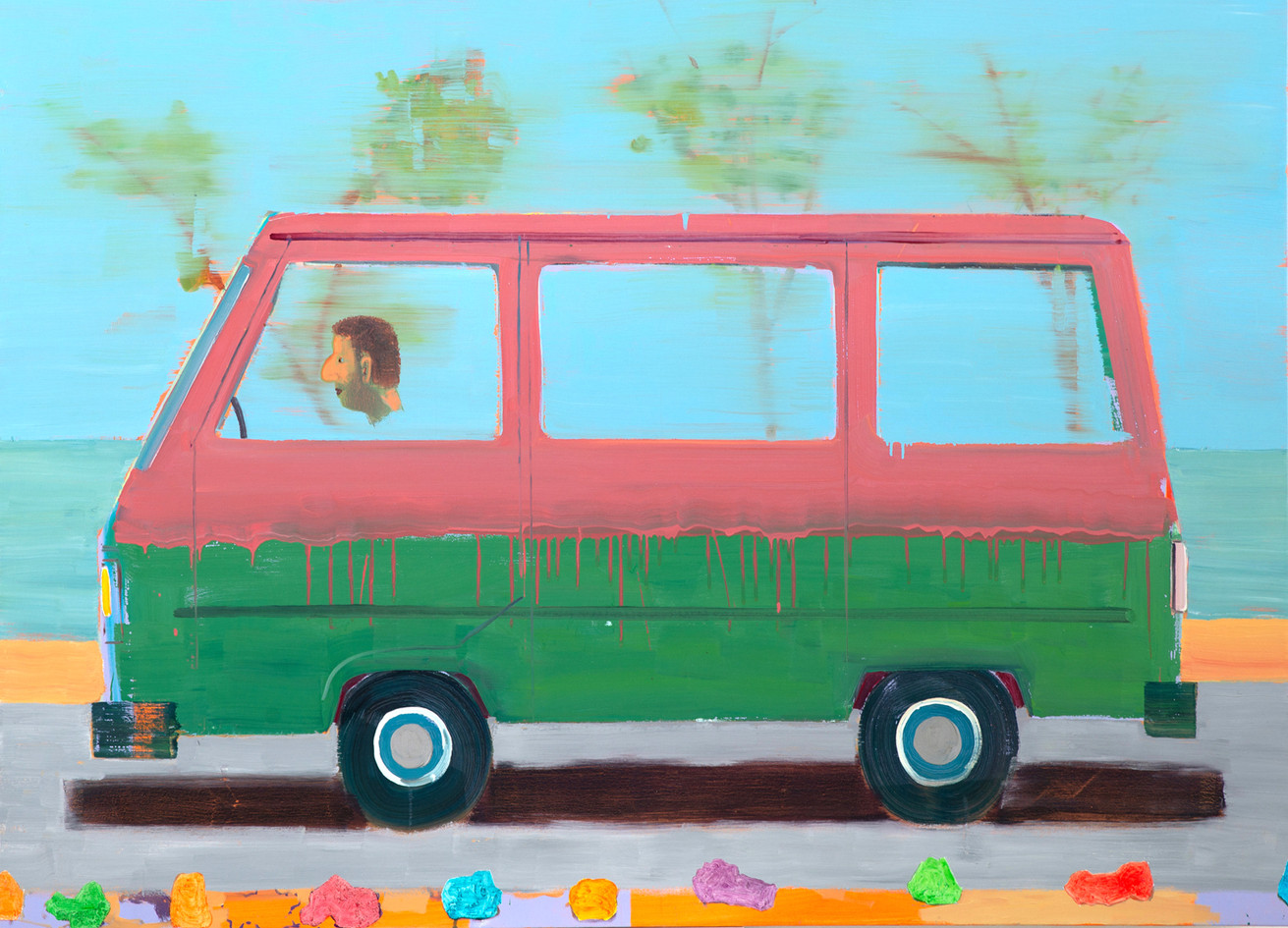 Transporter, 2018, oil on canvas, 180x13