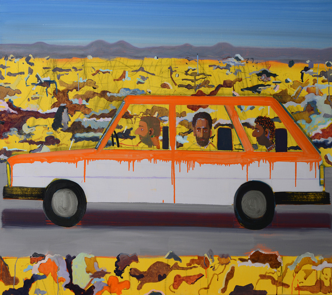 Hamudi Tours , 2018, oil on canvas,   13