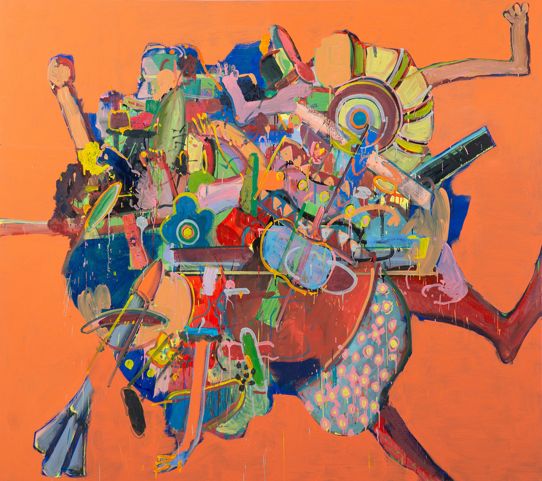 Barter, 2018, oil on canvas, 220x195 cm,