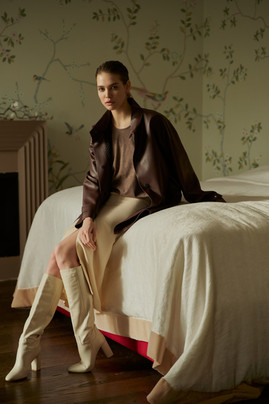 Leather eco parcha jacket
