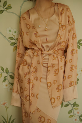 Silk dress and Jacket VestiairexRoss collaboration