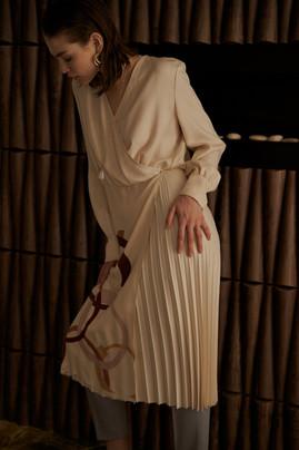 Silk dress Vestiaire x Ross Collaboration