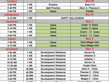 Development Weekend added to Schedule