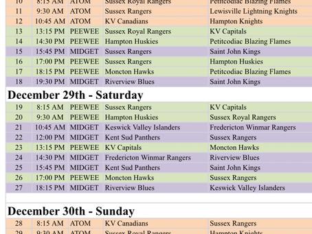 Dale Robinson Tournament Schedule