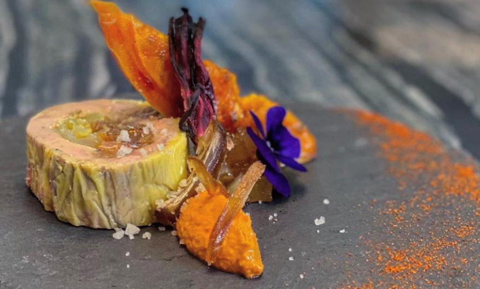 Foie gras farci à la châtaigne