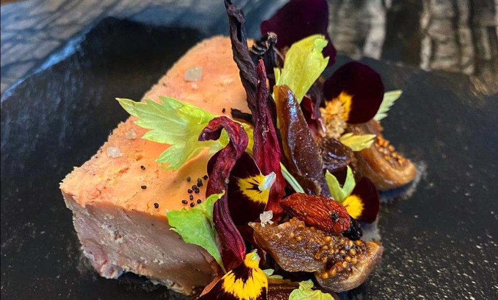 Foie gras farci à la figue