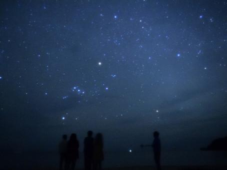 4月18日。細い月、星空との出会い