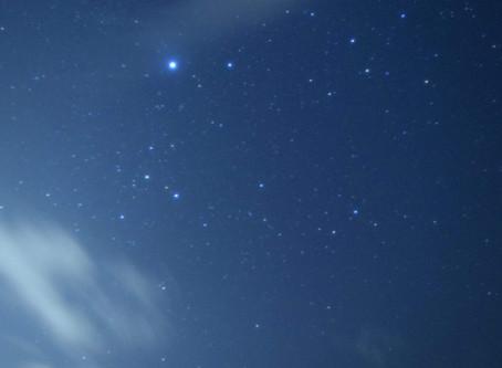 2月12日。南風と冬の星空
