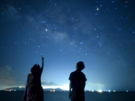 7月7日。七夕の夜空に輝く天の川