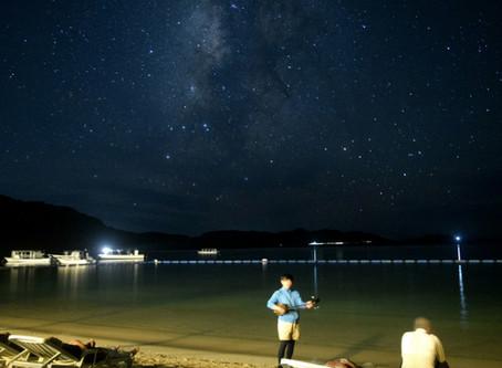 9月19日。川平の波音と星空