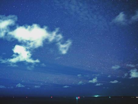 4月30日。星と雲のコントラスト