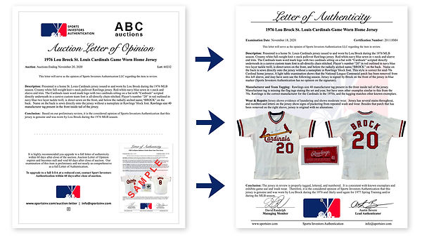 Auction Letter Upgrade