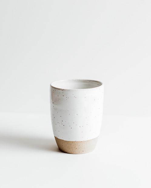 M Bueno White Ceramic Tumbler Or Vase