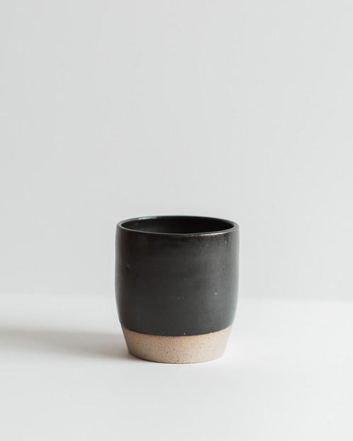 M Bueno Black Ceramic Tumbler Or Vase