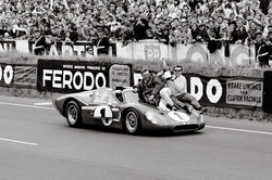 A.J. Foyt takes victory at LeMans