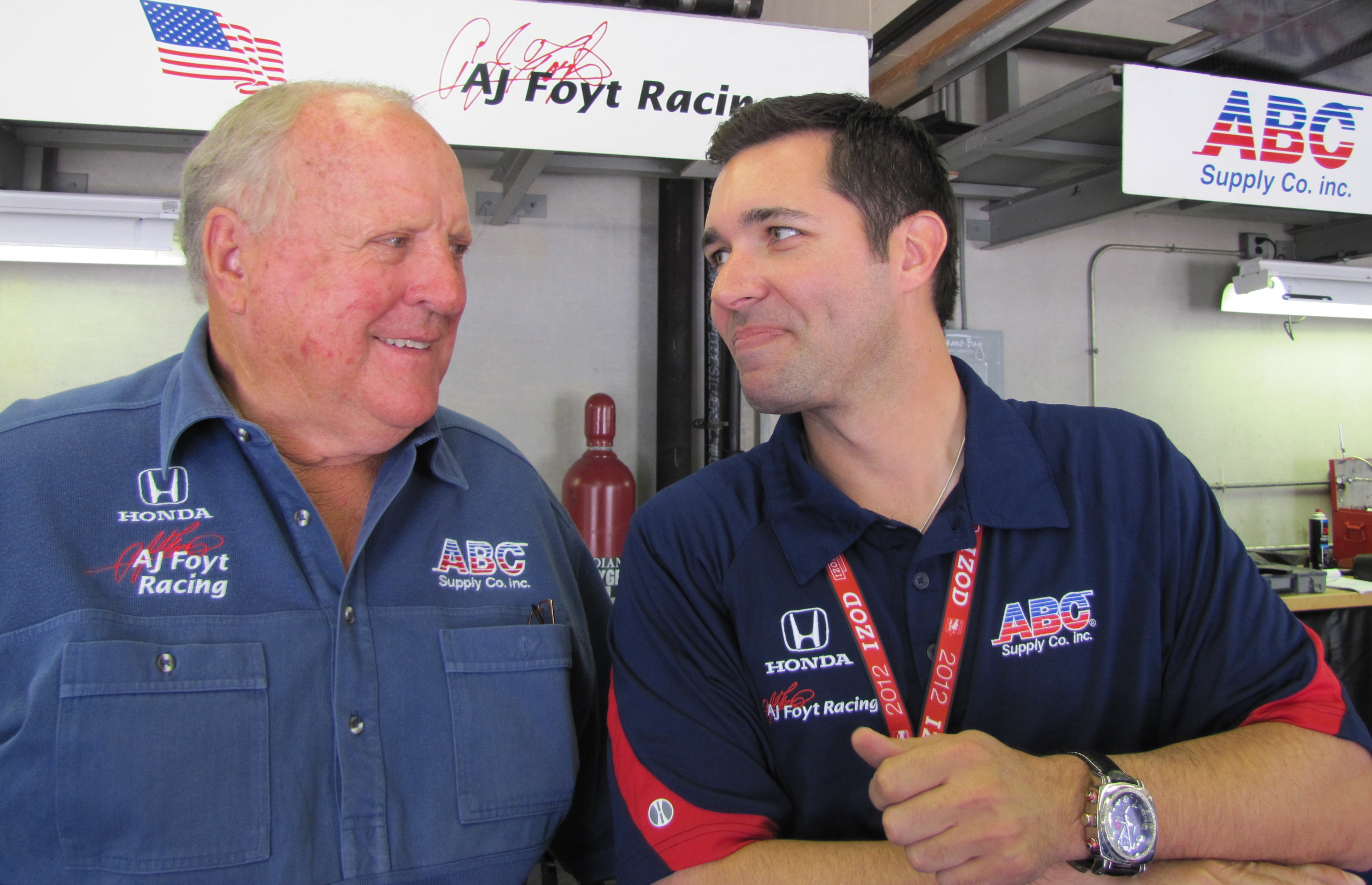 A.J. and Larry at Indy in 2012