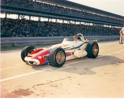 A.J. in his 1964 roadster at Indy