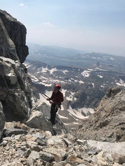 Rappelling off Grand Teton in WY