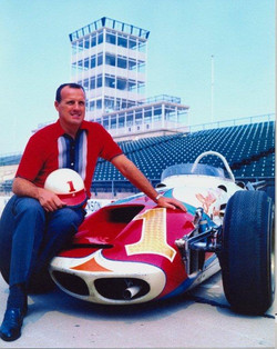 1964 Indy 500 winner with his roadst