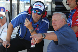 Larry Foyt with his dad A.J.