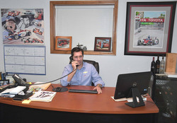 Larry Foyt in his office